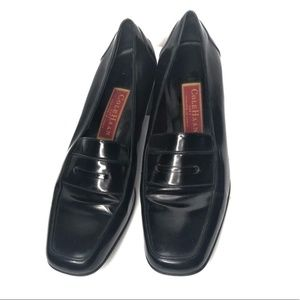 Cole Haan City patent heeled loafers